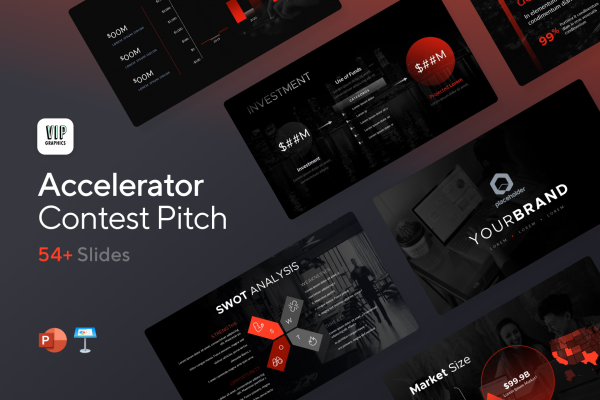 Accelerator Pitch Deck: Powerful slides designed to win pitch contests & accelerators   VIP Graphics