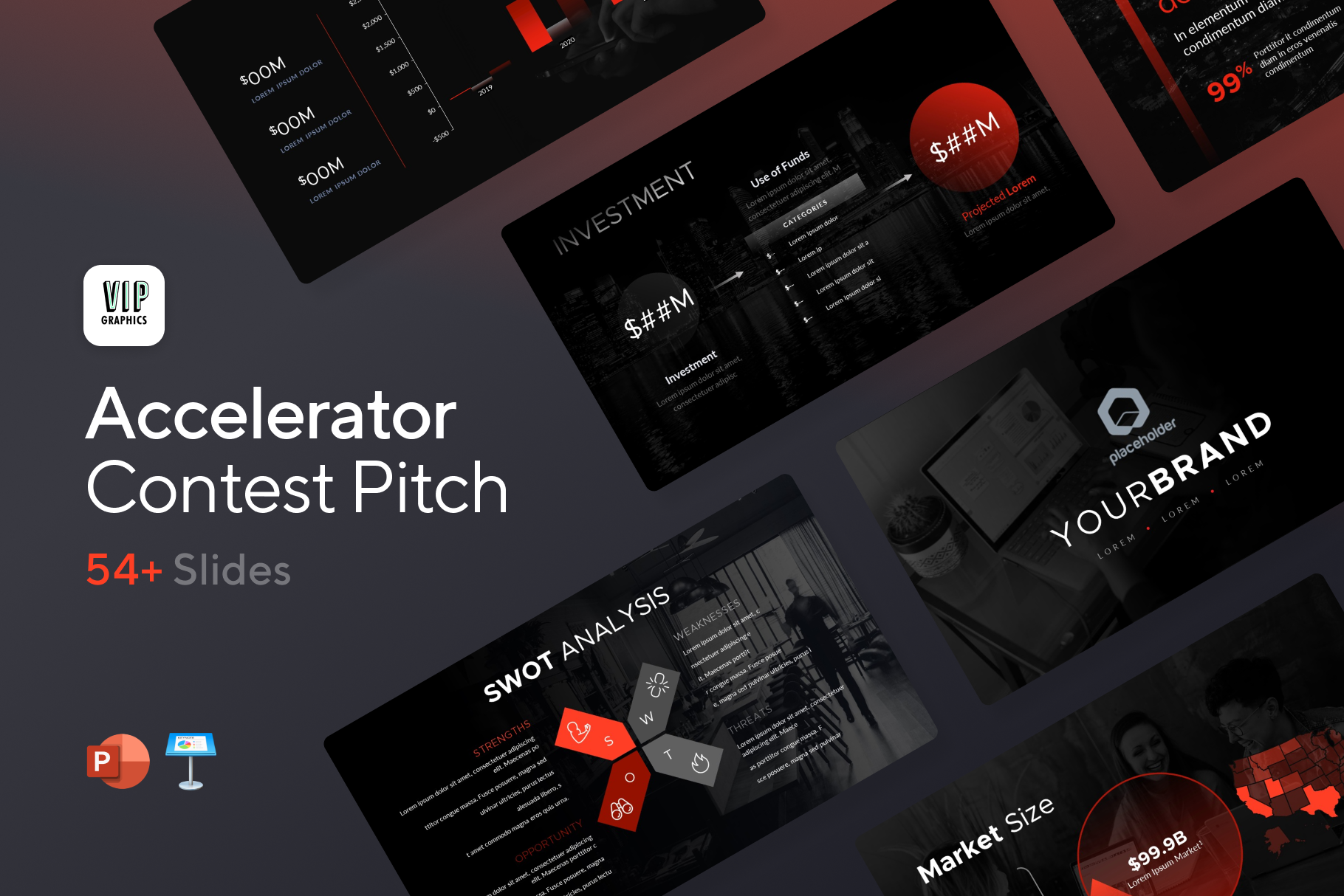 Accelerator Pitch Deck: Powerful slides designed to win pitch contests & accelerators | VIP Graphics