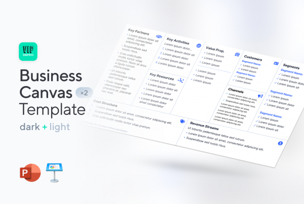 Business Canvas Template for PowerPoint & Keynote