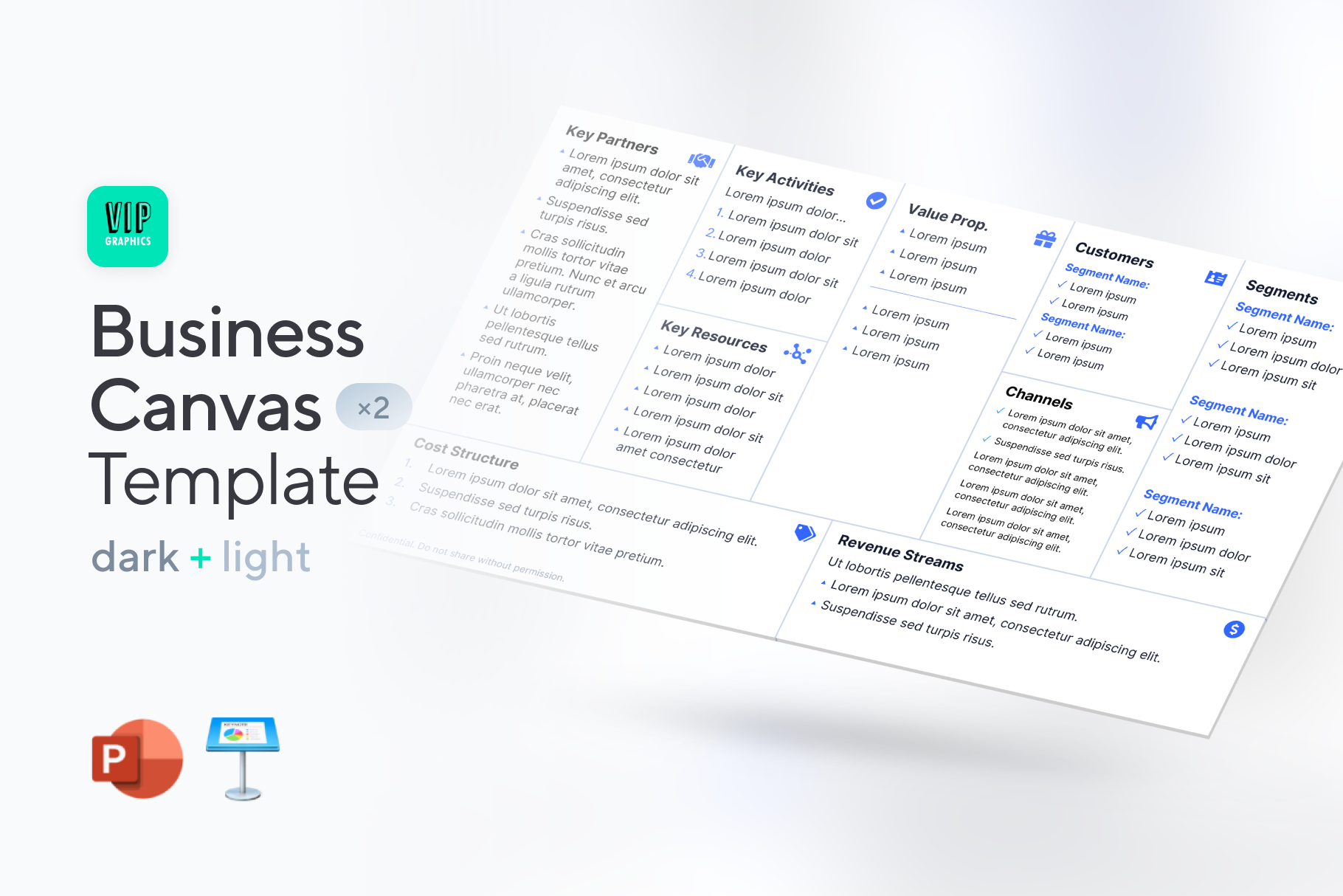Business Model Canvas Template for PowerPoint & Keynote | VIP Graphics