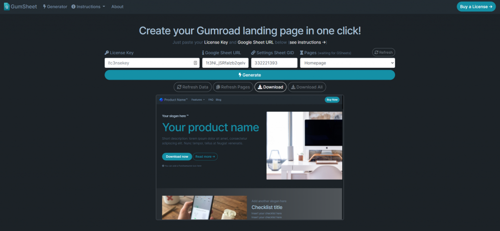 No-code landing pages for Gumroad: Boost Conversions & Increase Sales with GumSheet