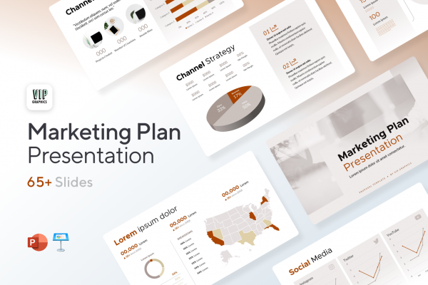 Marketing Plan Presentation Template for PowerPoint & Keynote   VIP.graphics