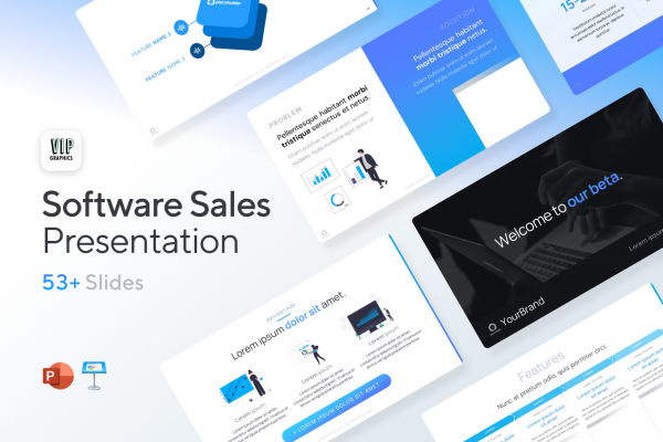Software & SaaS Sales Presentation Template for PowerPoint & Keynote   VIP.graphics