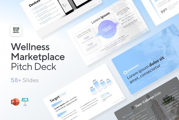Wellness Marketplace Pitch Deck Template