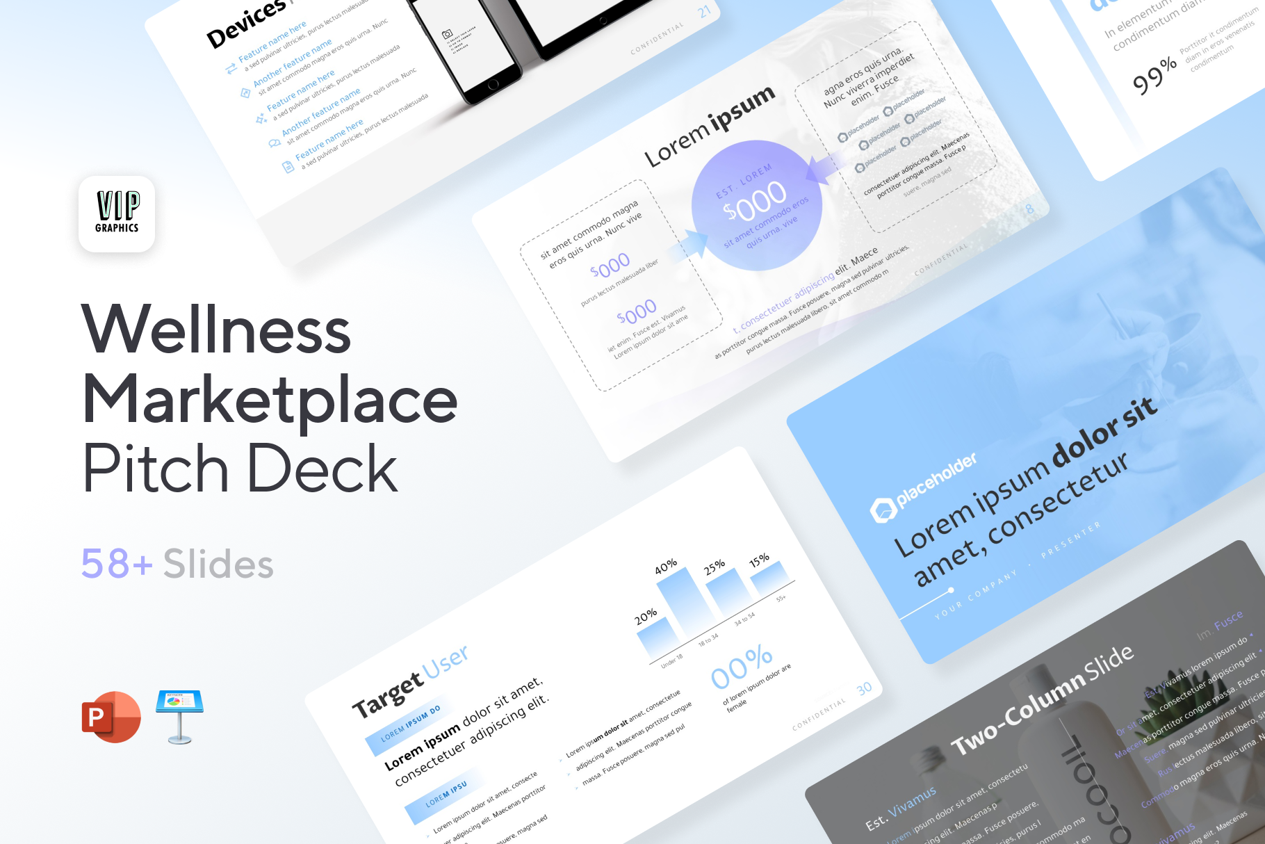 Wellness & Marketplace Pitch Deck: Proven slide templates designed for marketplaces & wellness brands. | VIP Graphics
