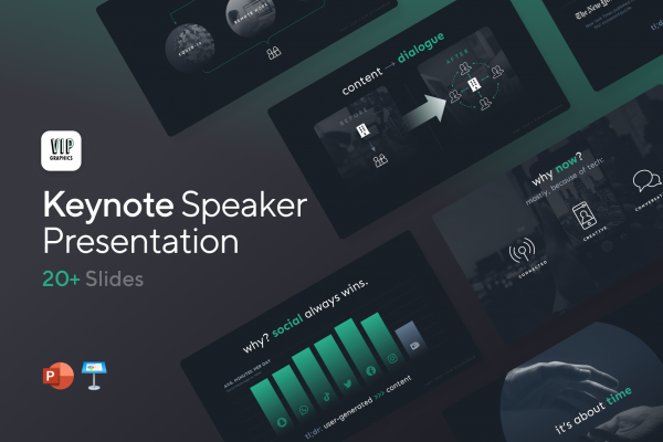 Conference Speech Presentation - Template For Keynotes   VIP Graphics