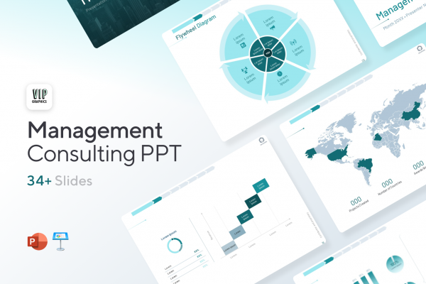 Management Consulting Presentation Template for PowerPoint & Keynote   VIP.graphics