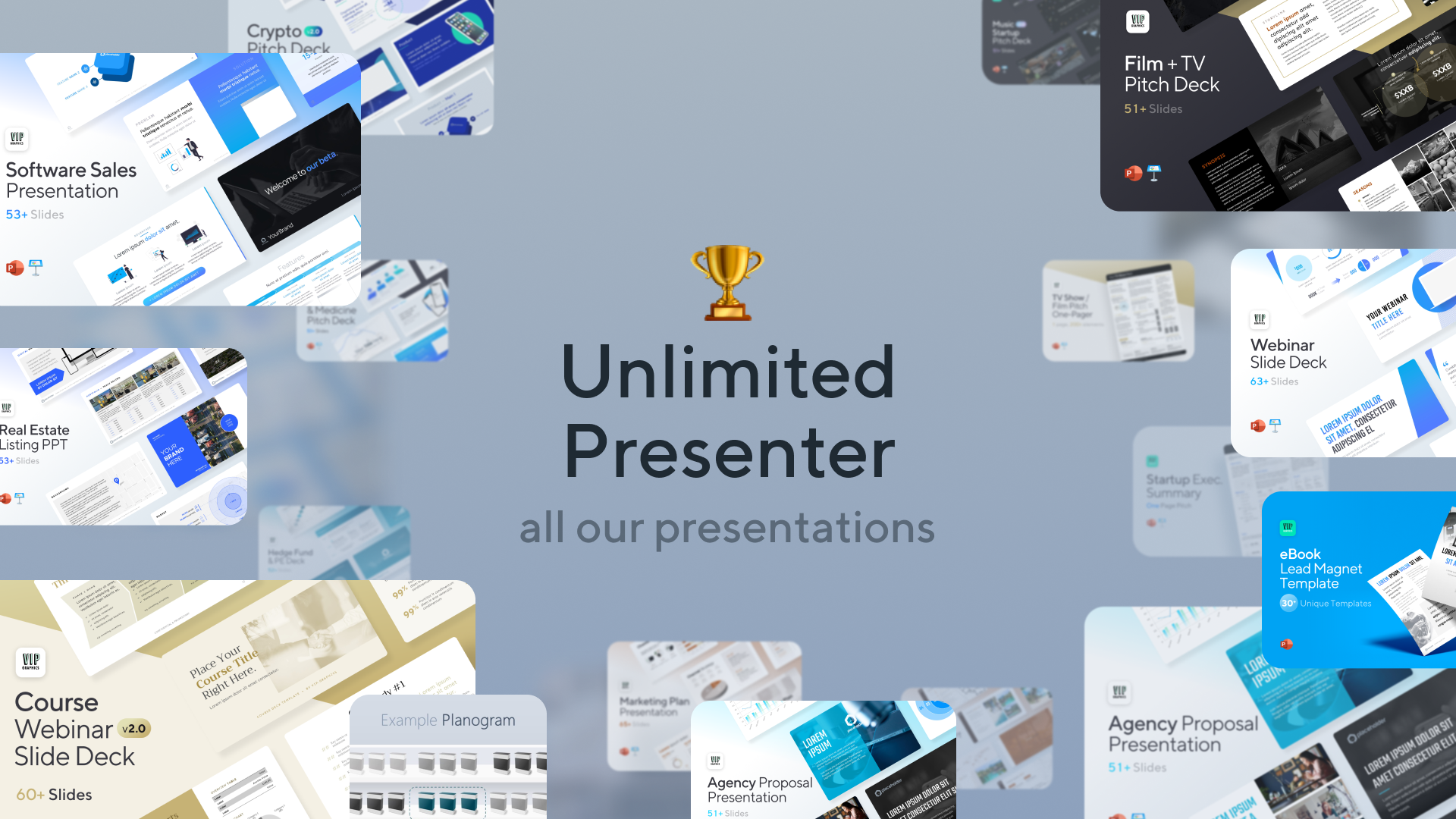 Unlimited Presenter Bundle - Professionally-designed Presentation Templates for PowerPoint & Keynote   VIP Graphics
